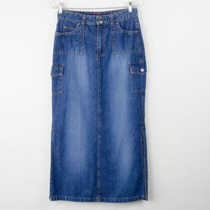 Vintage Arizona Denim Skirt Long w/ Slits